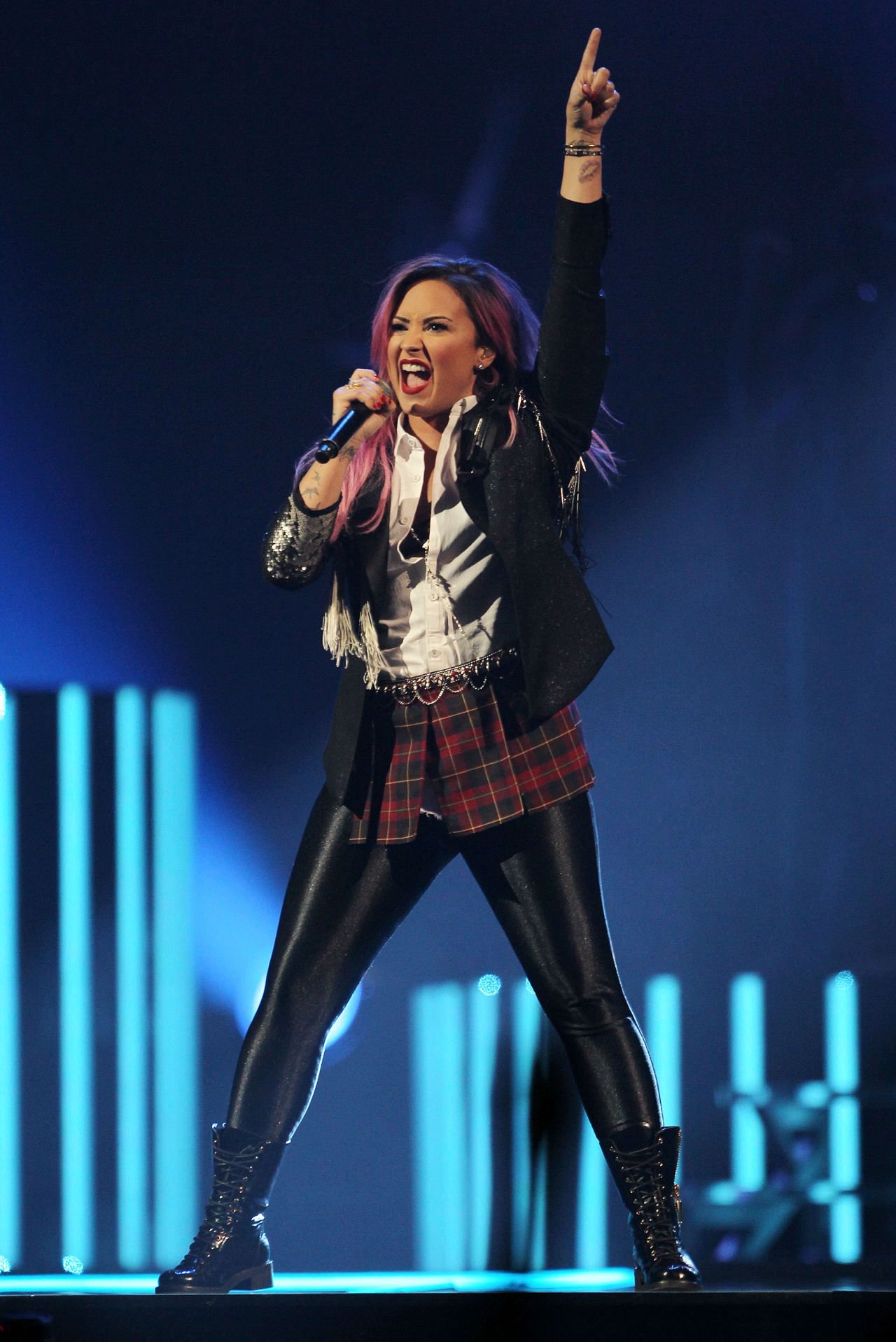 Demi Lovato - Neon Lights Concert Tour at the Honda Center in Anaheim, February 2014
