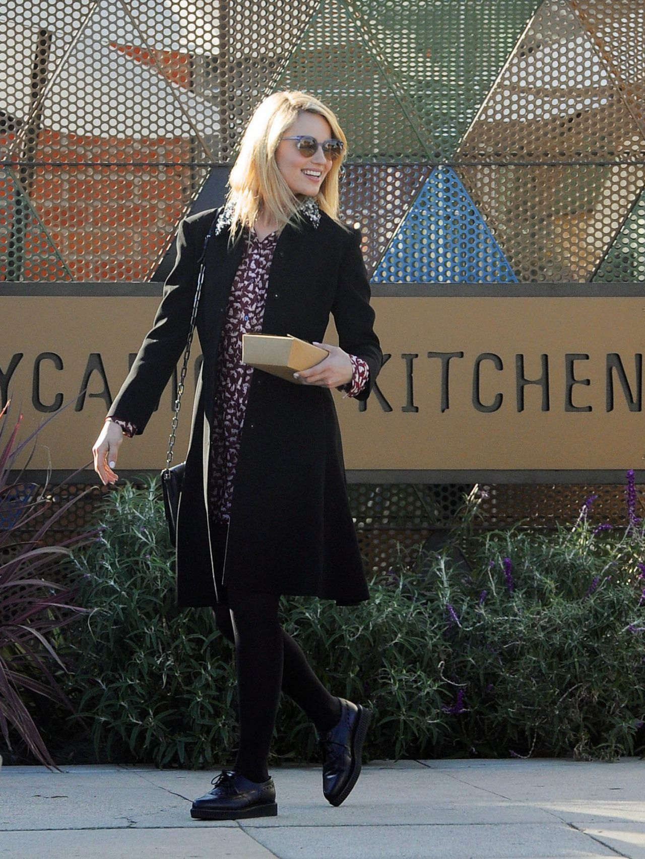 Dianna Agron Street Style - Leaving a restaurant in Los Angeles - February 2014