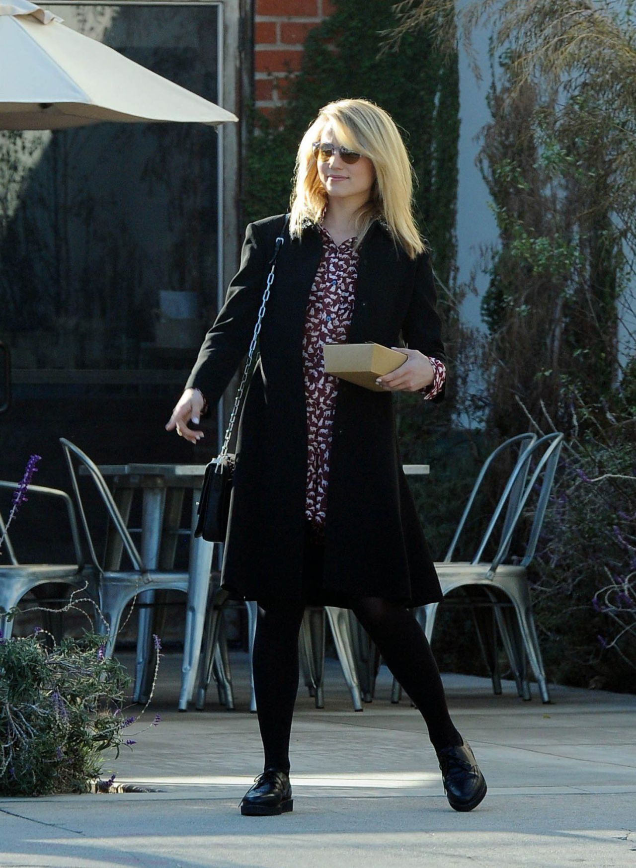 Original Dianna Agron Street Style  Leaving Cafe Gratitude In Los Angeles