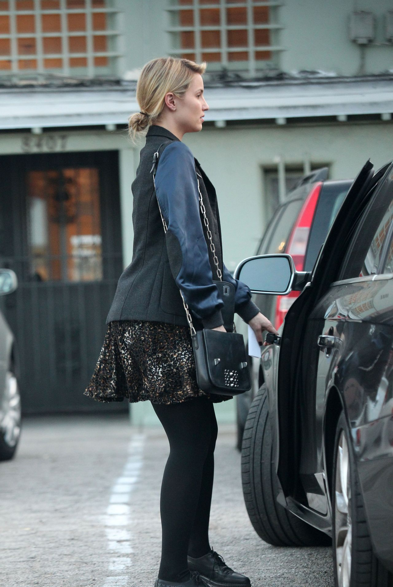 Dianna Agron Street Style New Stone Age Store In West
