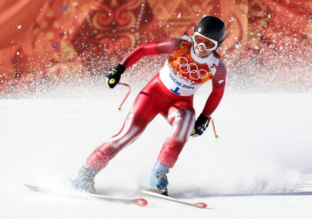 Dominique Gisin, Lara Gut and Nicole Hosp - Sochi 2014 Downhill Photos