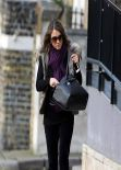 Elizabeth Hurley Street Style - London, February 2014