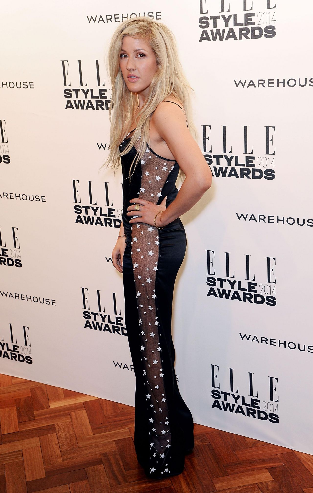 Ellie Goulding Wearing Jumpsuit From Matthew Williamson - ELLE Style Awards 2014