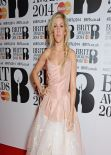 Ellie Goulding Wearing Vivienne Westwood Dress - 2014 BRIT Awards in London