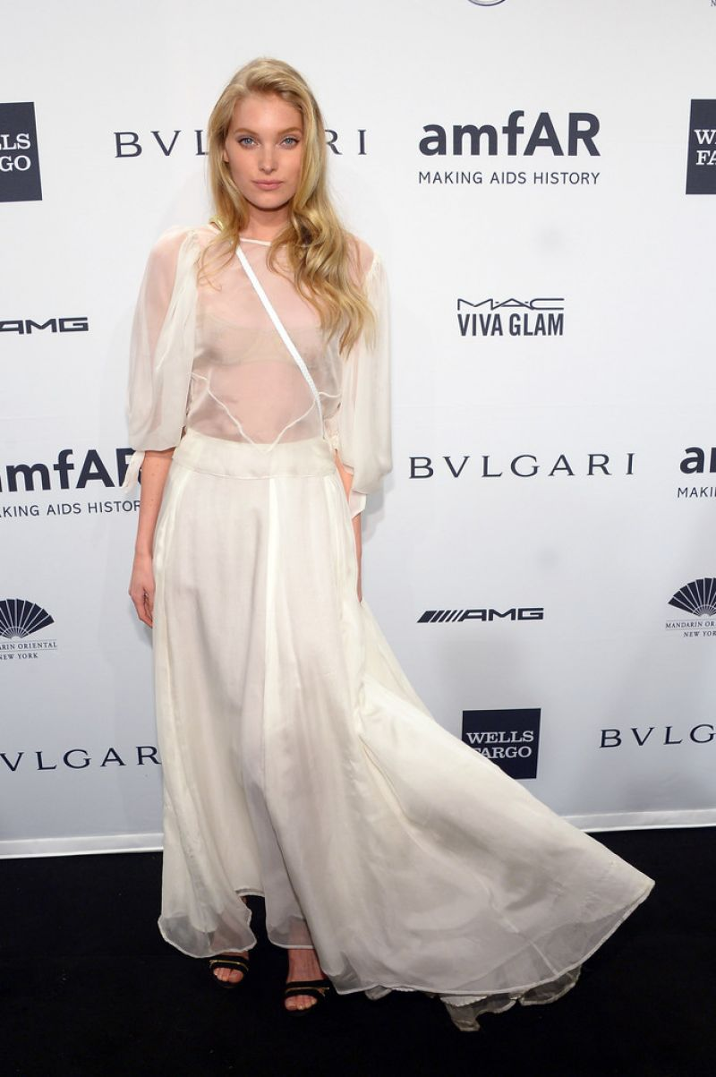 Elsa Hosk Attends 2014 amfAR New York Gala