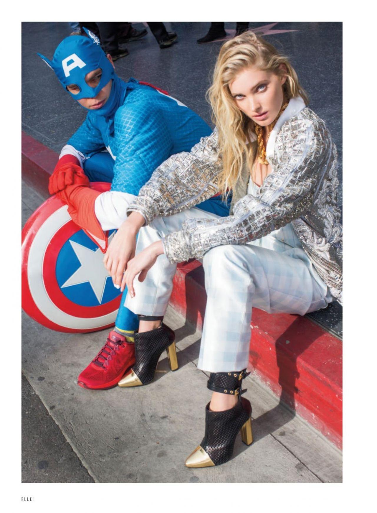 Elsa Hosk - Elle Magazine - March 2014 Issue