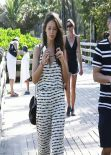 Emily DiDonato Street Style - Out in Miami, February 2014