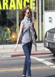Emily VanCamp Casual Look - Out in Los Angeles, February 2014
