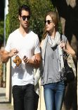Emily VanCamp & Josh Bowman Hold Hands Out in West Hollywood, February 2014