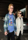Emma Roberts Street Style - Charles De Gaulle Airport in France, February 2014