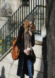 Emma Stone - Real New York City Street Style: Winter 2014