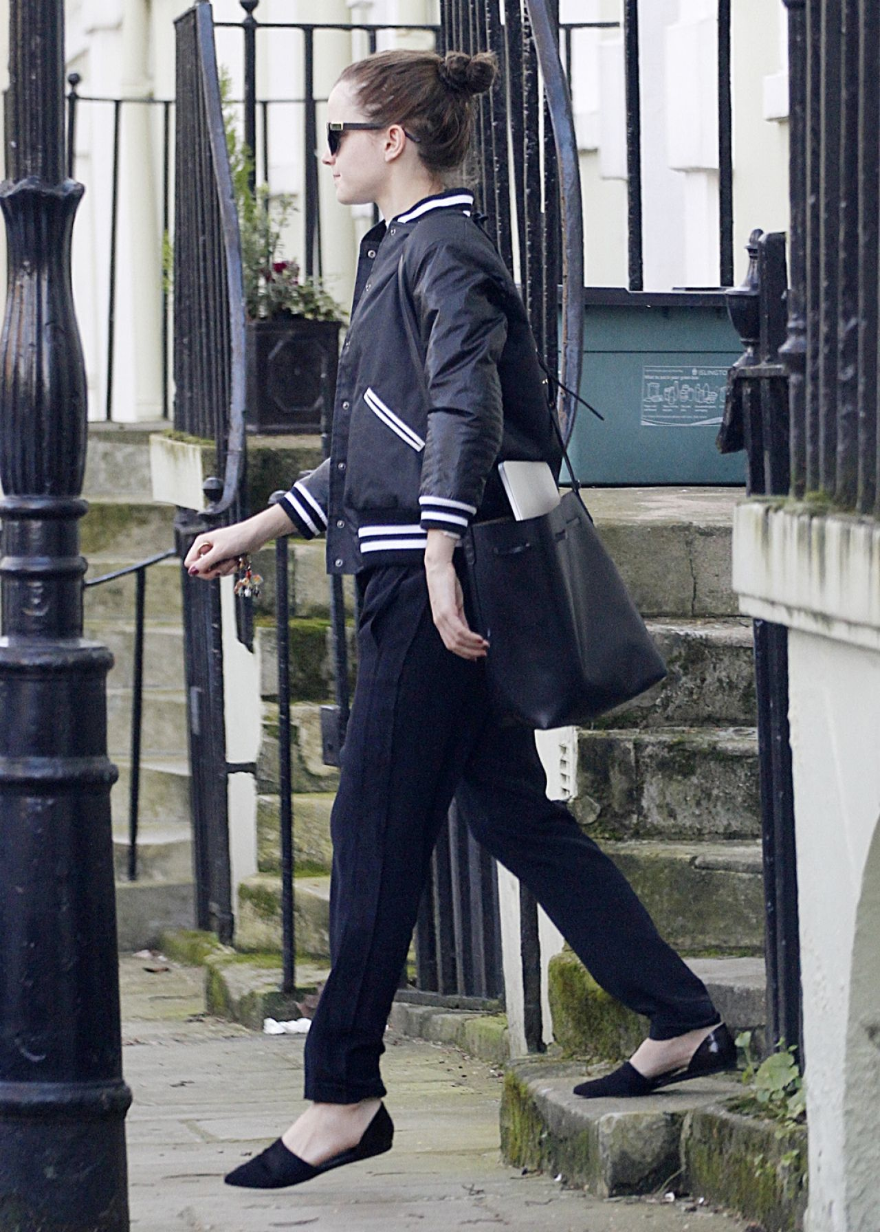 Emma Watson Street Style - Leaves Her House in London, February 2014