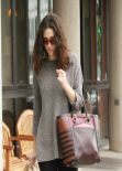 Emmy Rossum Street Style  - Grabs Lunch at Urth Caffe in Beverly Hills, Feb 2014