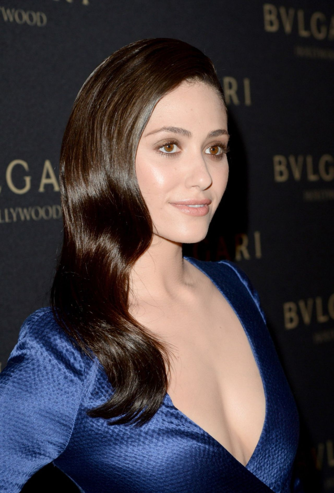 Emmy Rossum Wearing J.Mendel Dress – BVLGARI Presents 'Decades Of Glamour', February 2014