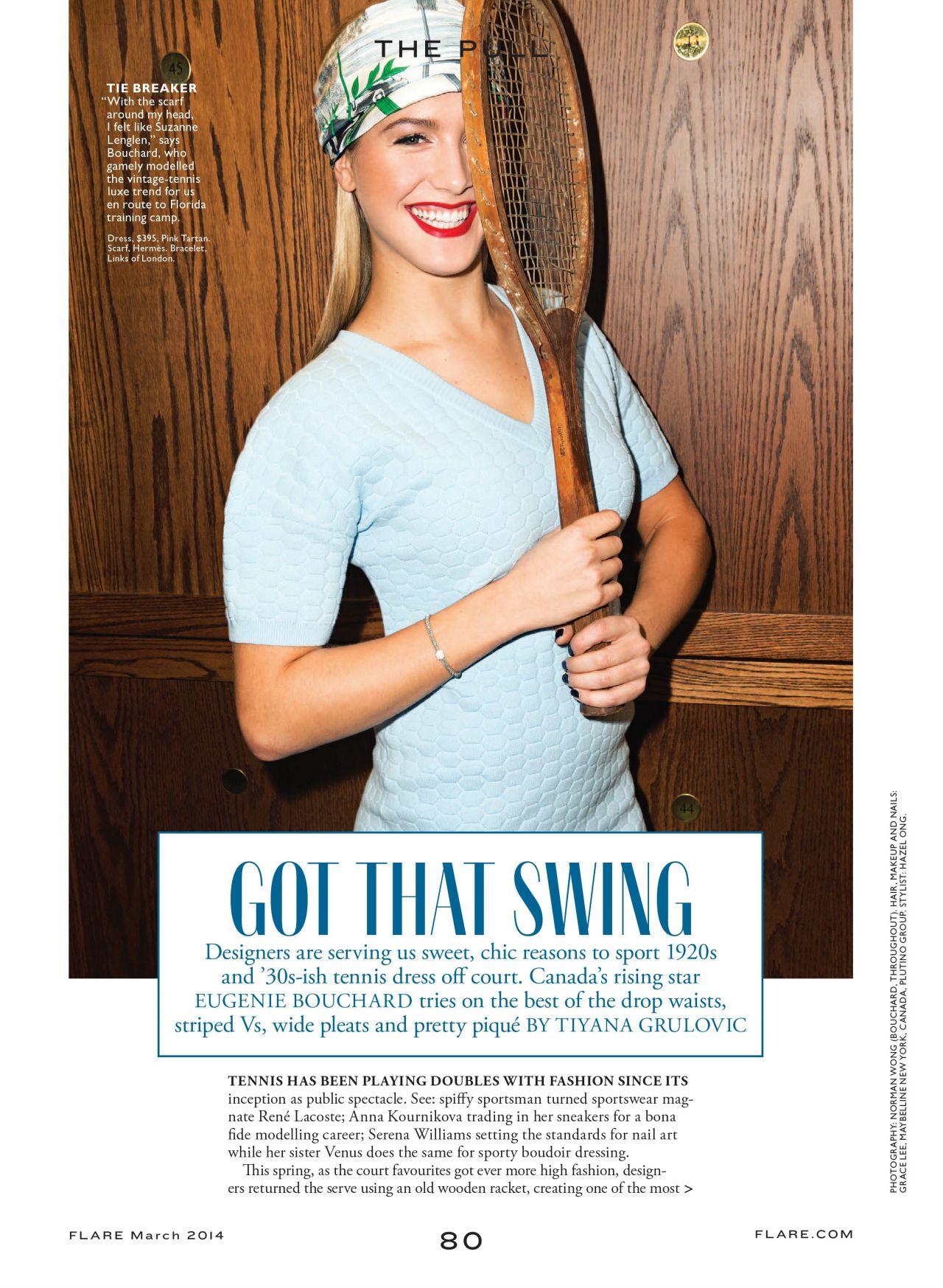 Eugenie Bouchard - FLARE Magazine (Canada) - March 2014 Issue