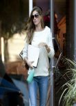 Gisele Bundchen in Jeans - Leaving an Office Building in Los Angeles, February 2014