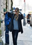 Gisele Bundchen Street Style - Out in New York City - February 2014