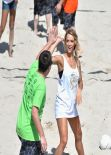 Hannah Ferguson - Sports Illustrated Swimsuit Beach Volleyball Tournament in Miami - February 2014