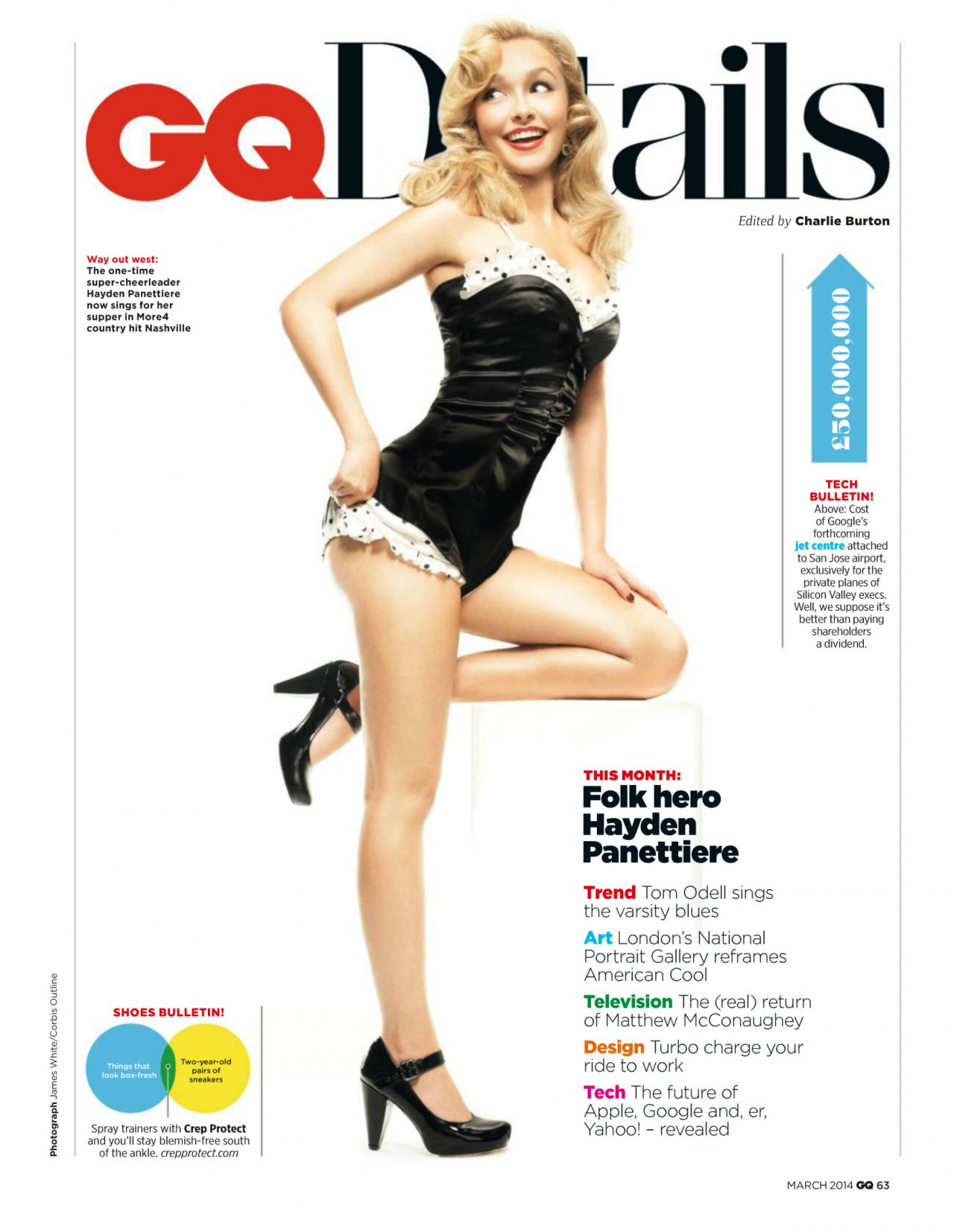 Hayden Panettiere - GQ Magazine (UK) - March 2014 issue