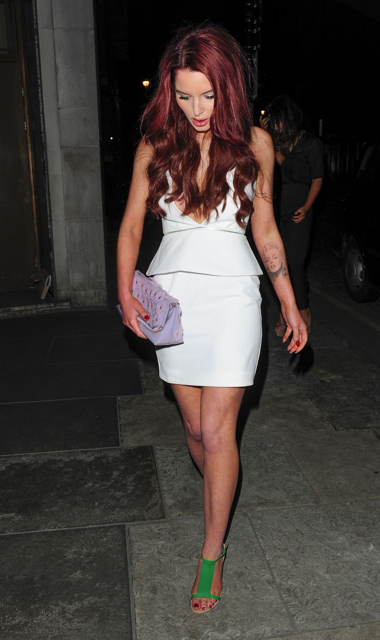 Helen Flanagan In White Mini Dress Japanese Restaurant