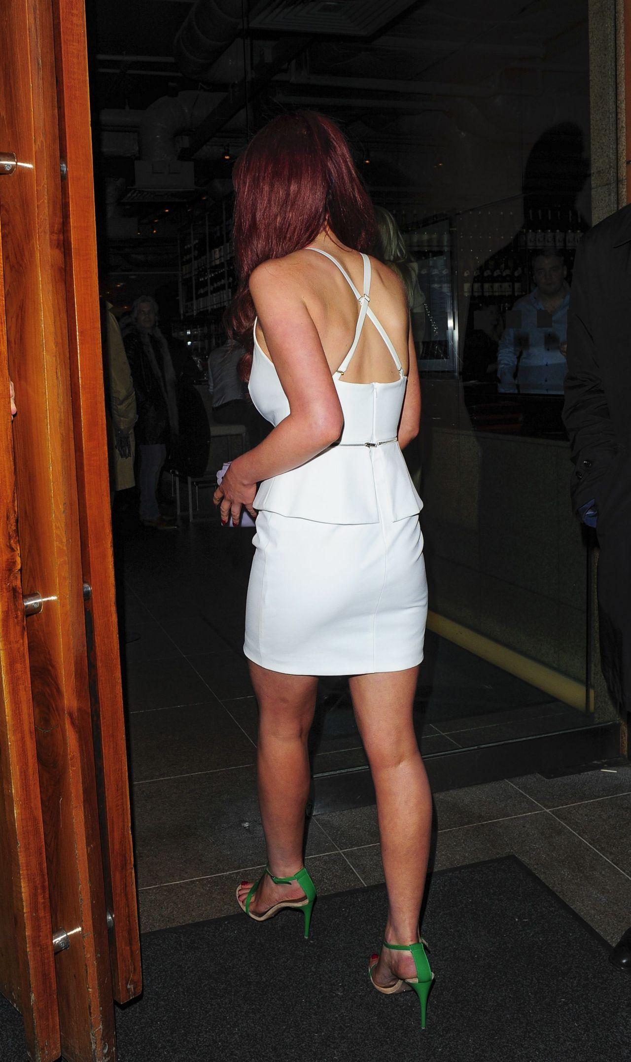 Helen Flanagan In White Mini Dress Japanese Restaurant