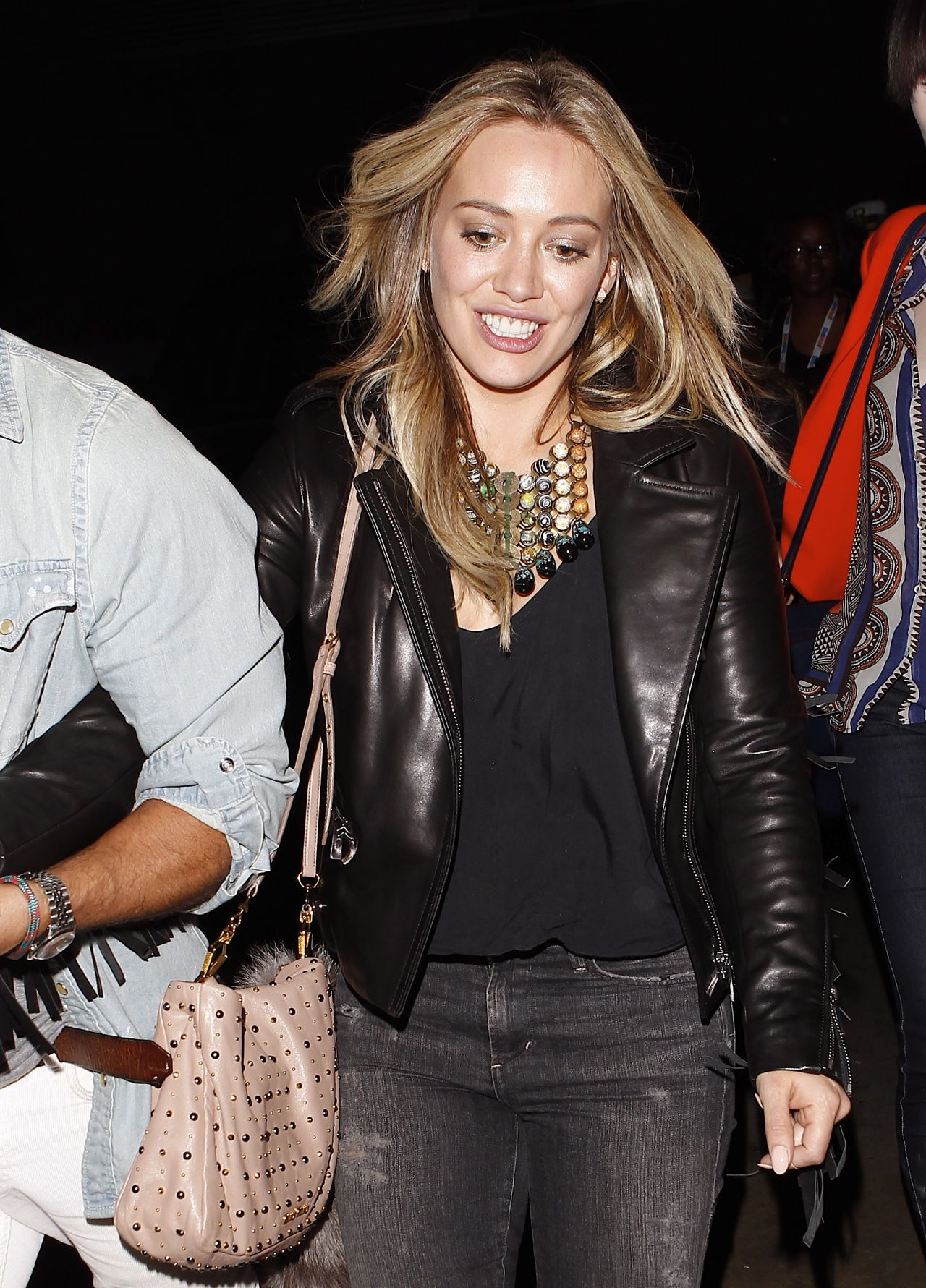 Hilary Duff at the Miley Cyrus Concert - Staples Center in Los Angeles