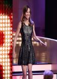 Hilary Swank Wearing Parker Flavia Dress – 'Wetten, dass..?' TV Show at the ISS Dome in Duesseldorf, Germany