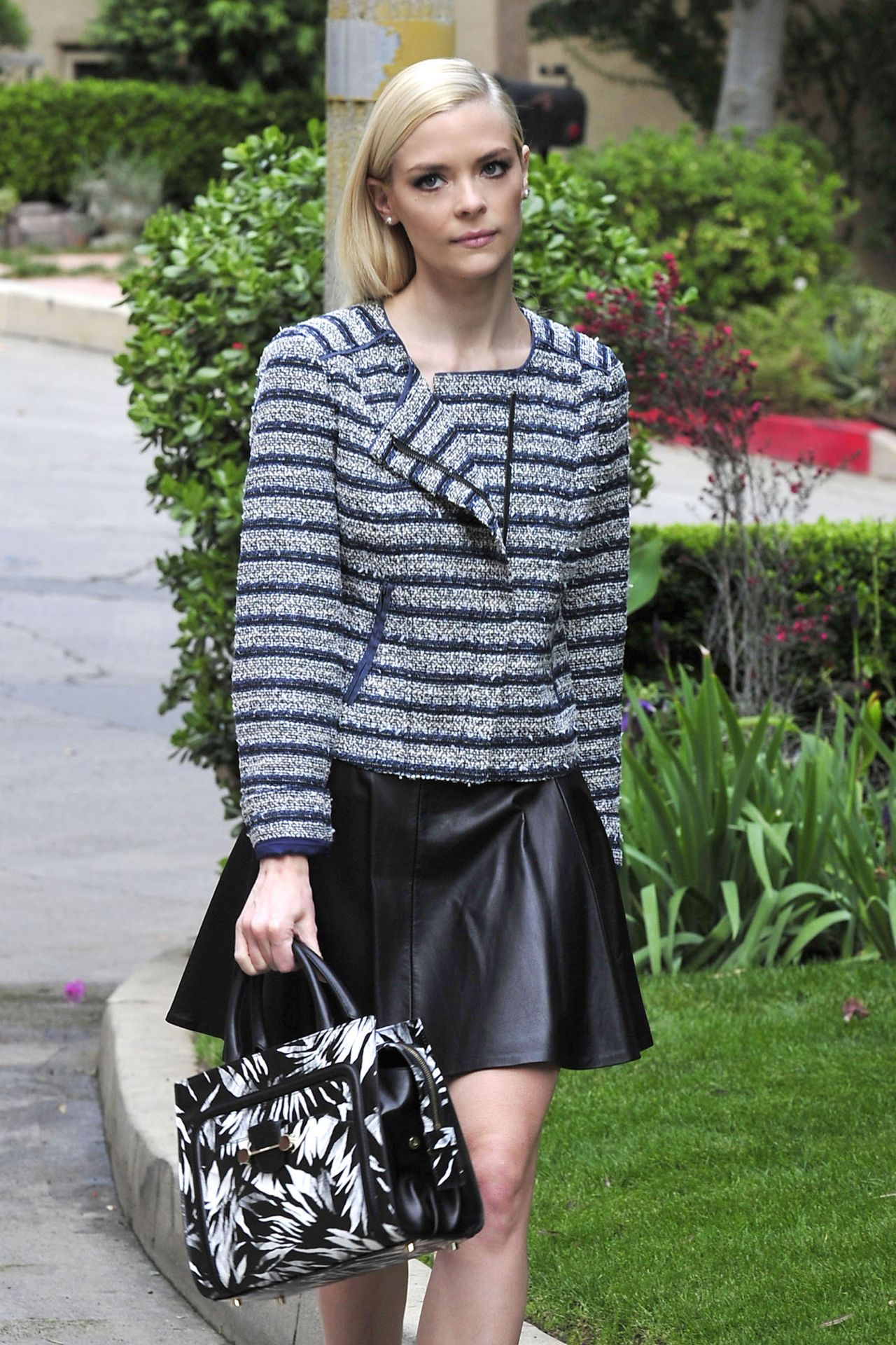 Jaime King Street Style - Out in West Hollywood, February 2014