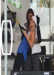 Jaimie Alexander Gym Style - at Rise Movement gym in Beverly Hills