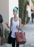 Jaimie Alexander Gym Style - Leaving Rise Movement Gym in Beverly Hills