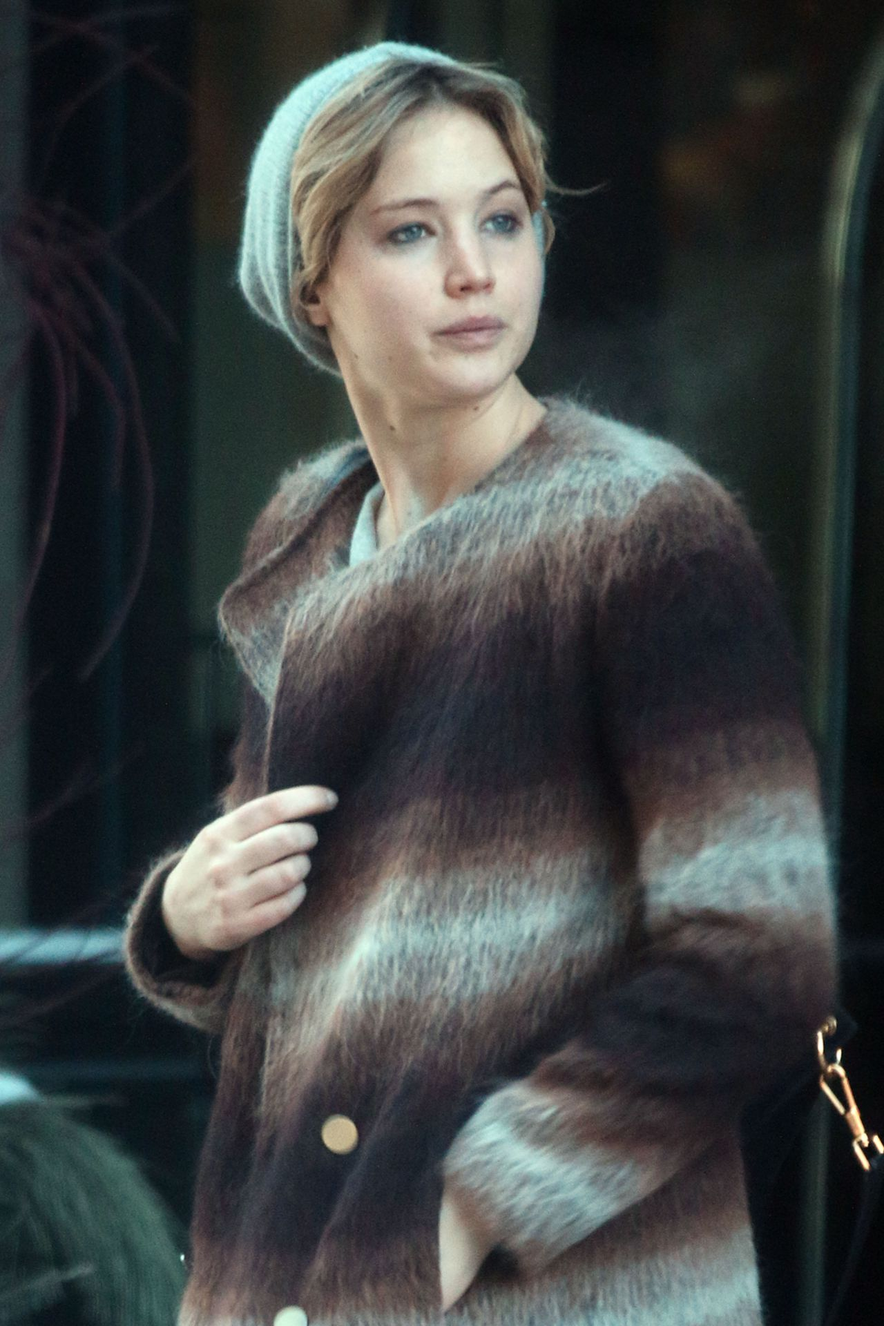 Jennifer Lawrence Street Style - Leaving Hotel in Montreal - February 2014