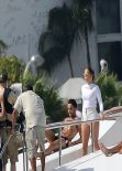 Jennifer Lopez - Filming New Music Video on a Yacht in Miami - February 2014