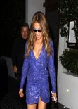 Jennifer Lopez Night Out Style - Leaves Cecconi