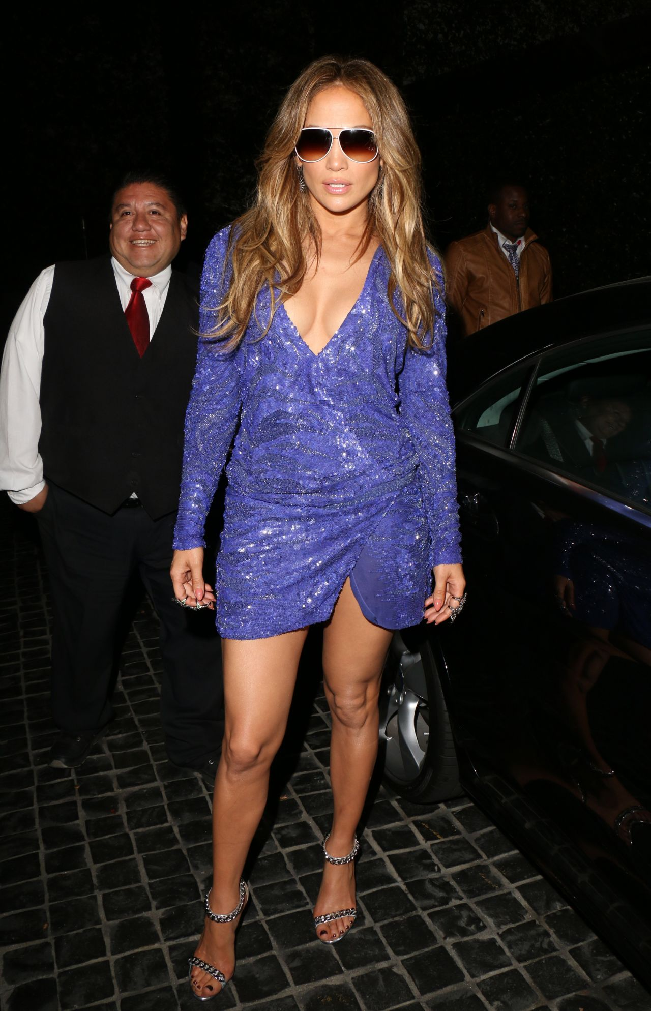 jennifer lopez night out style leaves cecconis in west