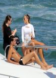Jennifer Lopez on Yacht in Miami - Filming