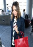 Jessica Alba At LAX Airport - February 2014