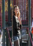 Jessica Alba - Coldwater Canyon Park in Beverly Hills, February 2014