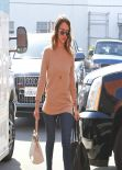 Jessica Alba Street Style - Heads to Her Office - February 2014