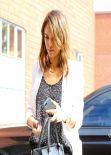 Jessica Alba Street Style - Visiting The Honest Company in Los Angeles