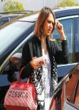 Jessica Alba Street Style - Wearing a Young Mick Jagger T-shirt - February 2014