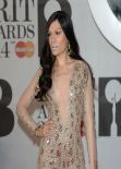 Jessie J Wearing Julien Macdonald Skintight Embellish Bodysuit at BRIT Awards 2014