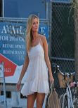Joanna Krupa - in White Mini Dress Out in Miami, February 2014