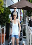 Julianne Hough in Denim Shorts at Cuvée - Los Angeles, February 2014
