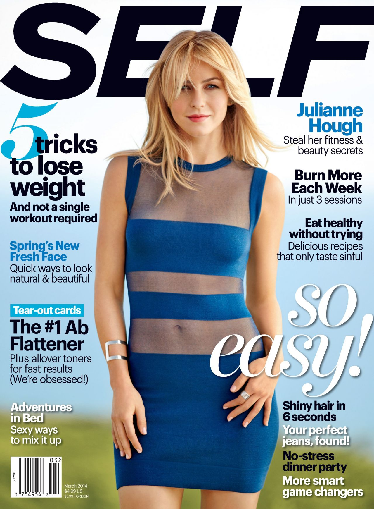 Julianne Hough - Self Magazine (USA) - March 2014 Cover