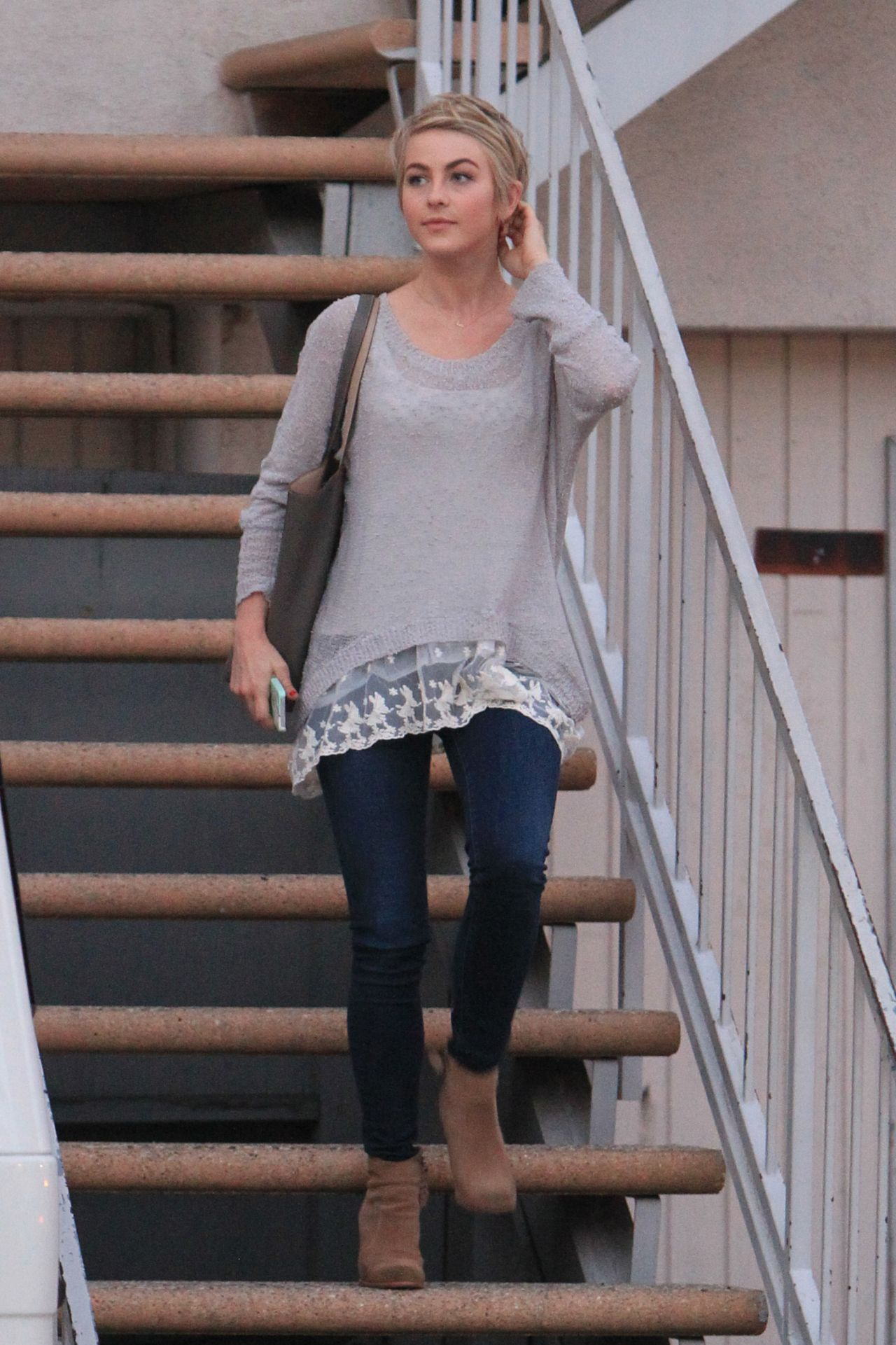 Julianne Hough Street Style - Heads to a Meeting, Los Angeles, February 2014