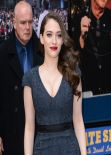 Kat Dennings - Late Show with David Letterman - New York, February 2014