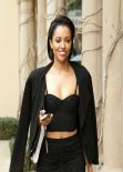Kat Graham Street Style - in a two-piece ensemble, Beverly Hills, February 2014