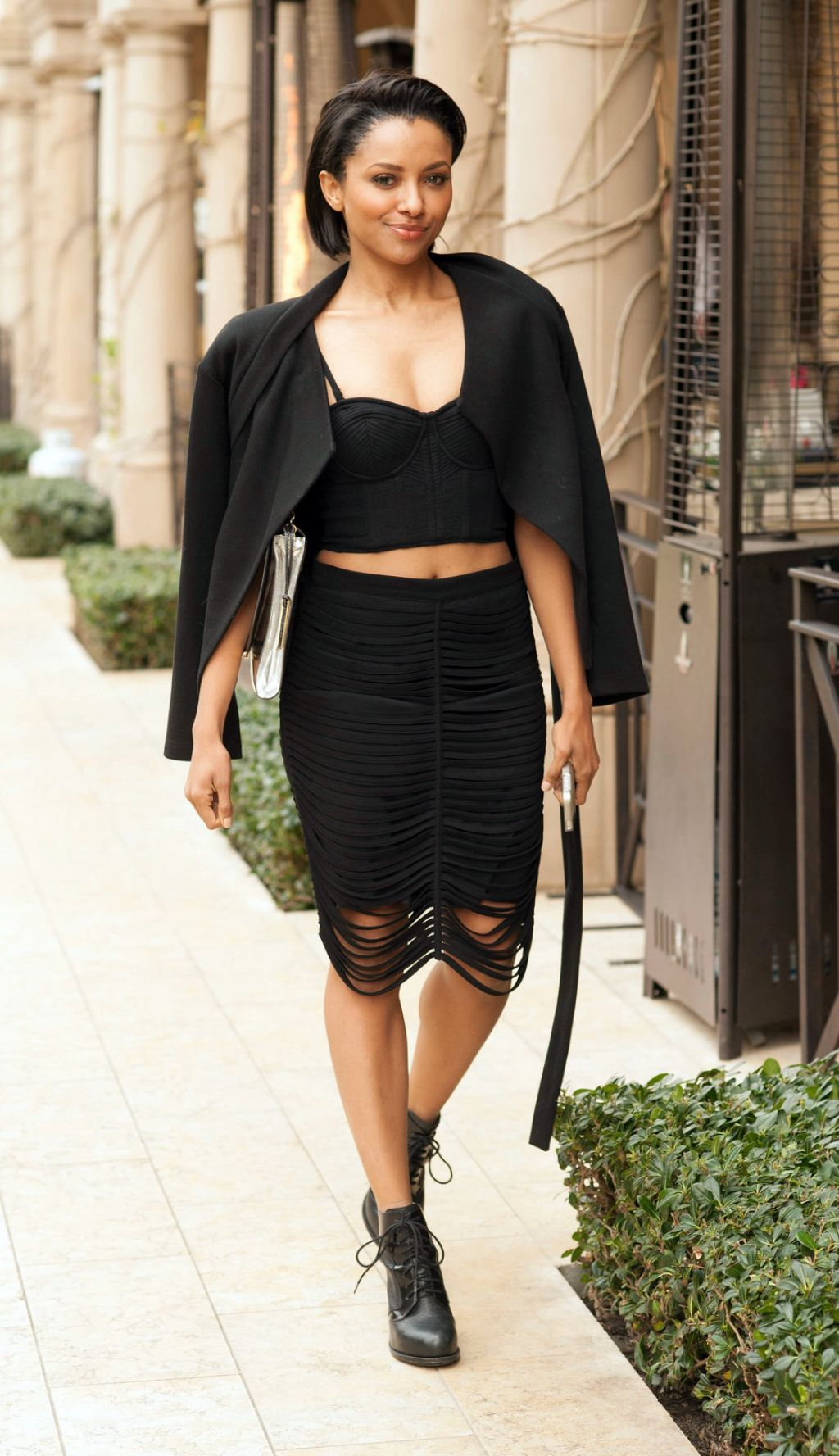 kat graham street style in a twopiece ensemble beverly