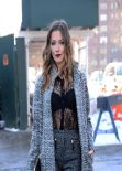 Katie Cassidy Style - Outside Lincoln Centre - 2014 Mercedes Benz Fashion Week in NYC