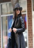Katie Holmes in Leather and Skinny Jeans - Out in New York City - February 2014